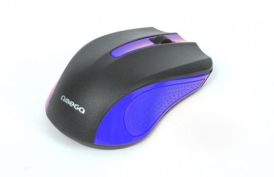 OMEGA myš OM-05BL, 1000DPI, černo/modrá