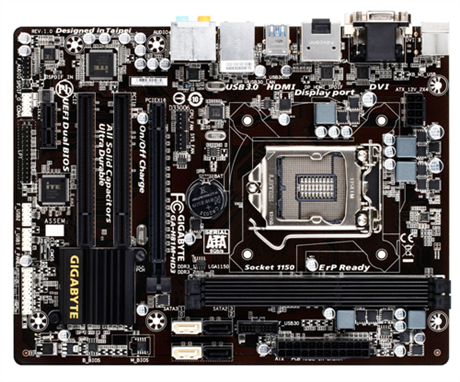 GIGABYTE MB Sc LGA1150 H81M-HD3, Intel H81, 2xDDR3, VGA, mATX