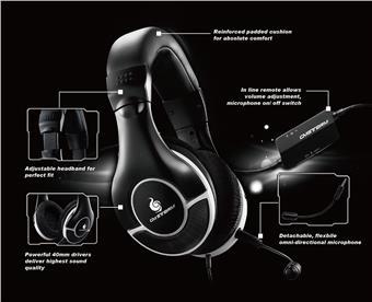 COOLERMASTER STORM CERES-300 herní sluchátka s odpojitelným mikrofonem, 40mm driver