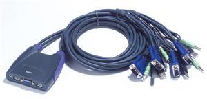 ATEN KVM switch CS-64U USB 4 PC mini, 1,8 metru