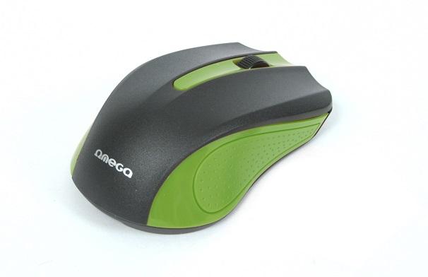 OMEGA myš OM-05G, 1000DPI, černo/zelená