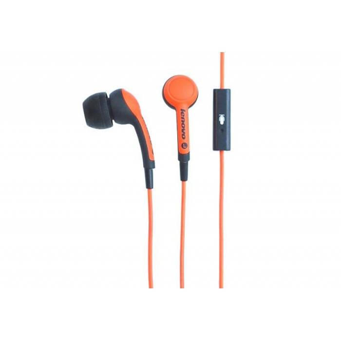 Lenovo Idea sluchátka In-Ear Headset P165 Orange = oranžová