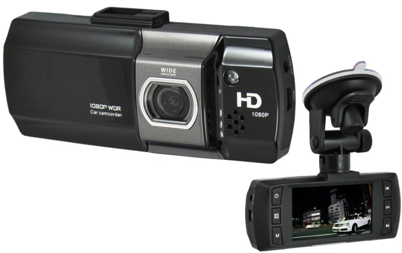 CEL-TEC E07 - palubní kamera do auta 1080p, microSD/SDHC, WDR, černá