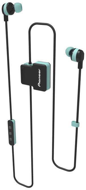 Pioneer špuntová sportovní sluchátka s BT zelená