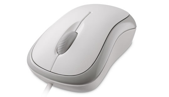 Microsoft Basic Optical Mouse Mac/Win USB, bílá