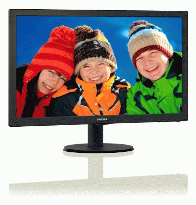 "Philips LCD 243V5LSB 23,6""wide/1920x1080/5ms/10mil:1/DVI/LED"
