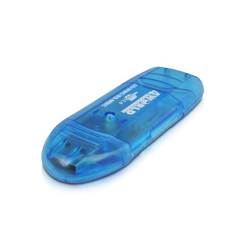 4World přenosná čtečka paměťových karet SDHC/MMC/T-FLASH USB 2.0 PenDrive