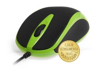 Media-Tech PLANO optická myš, 800 cpi, USB, zeleno-černá