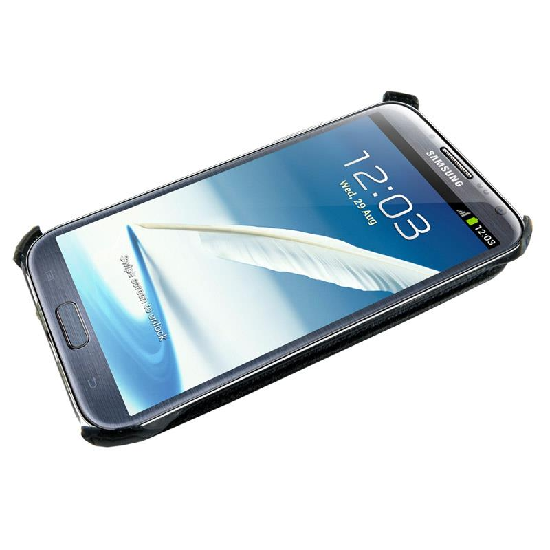 4World Ochranné pouzdro pro Galaxy Note 2, koženka, 5.5'', černý
