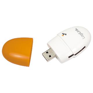 LOGILINK - Čtečka karet USB 2.0 Stick oranžová