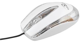 Titanum TM111W LAGENA optická myš, 1000 DPI, USB, blister, bílá