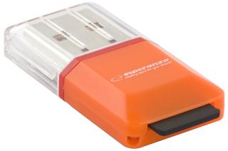 Esperanza EA134O Čtečka karet MicroSD/TF USB 2.0, oranžová