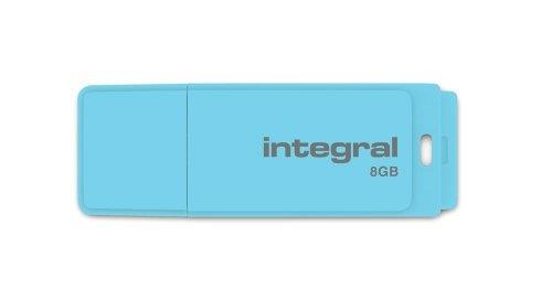 INTEGRAL Pastel 8GB USB 2.0 flashdisk, Blue Sky