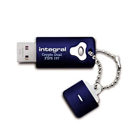 INTEGRAL Crypto Dual 4GB USB 2.0 flashdisk, AES 256 bit šifrování, FIPS 197