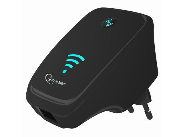 GEMBIRD Eth WIFI repeater 300 Mbps, černý