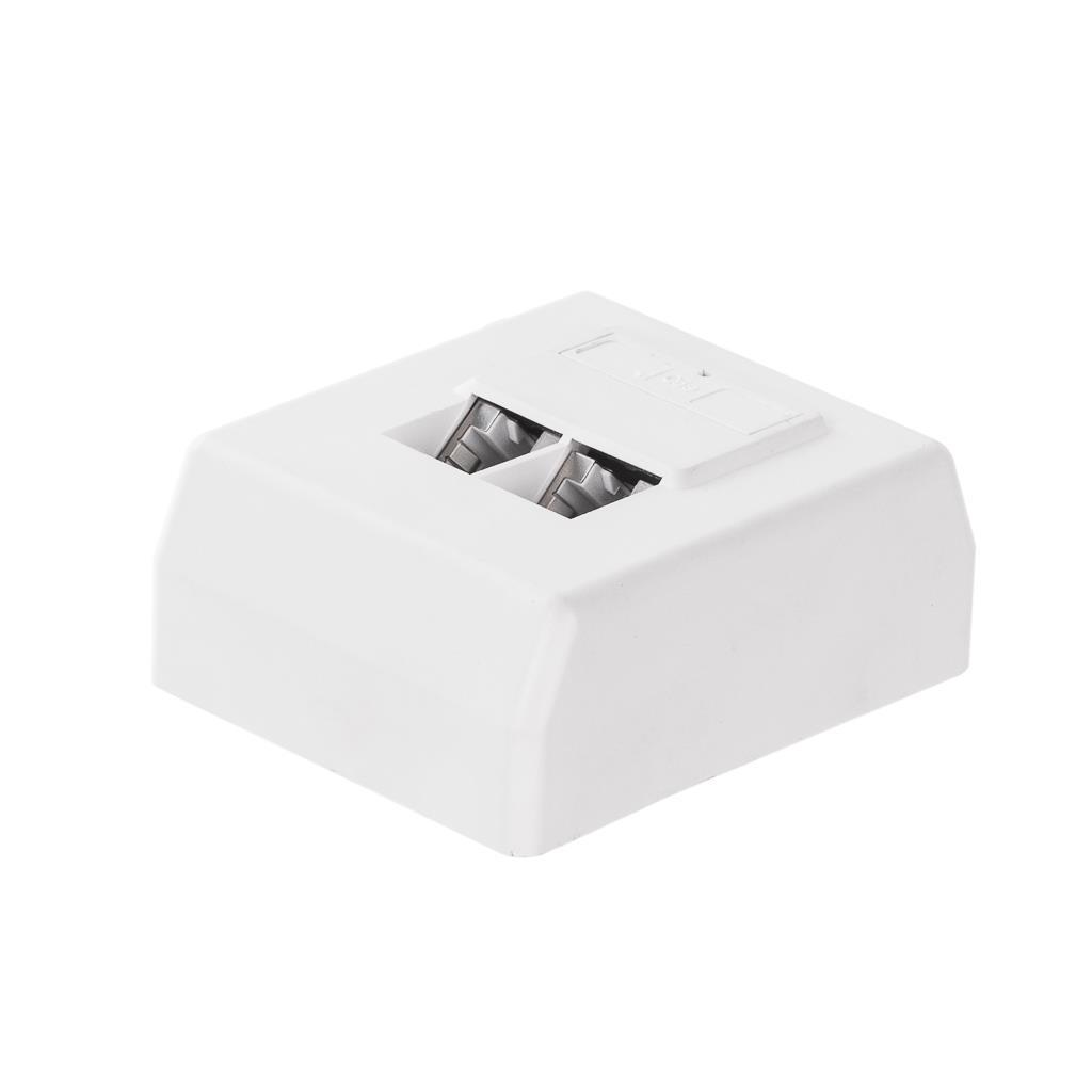 Netrack zásuvka kompletní na omítku 1xRJ45 8p8c FTP Cat5e Dual Block