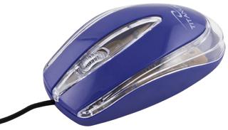 Titanum TM111B LAGENA optická myš, 1000 DPI, USB, blister, modrá