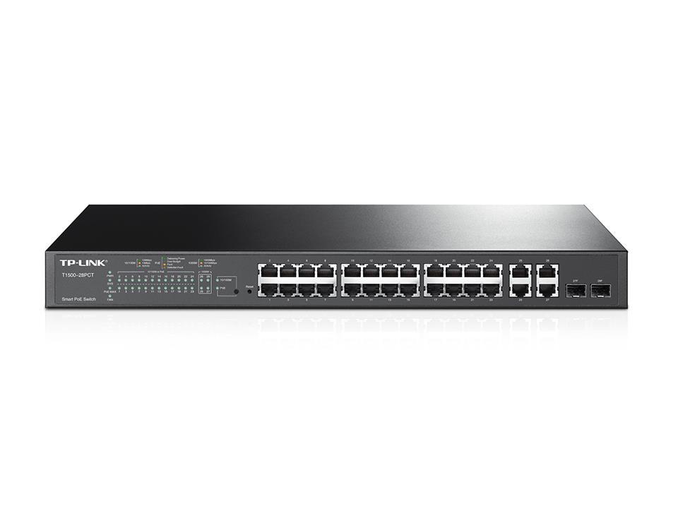 TP-Link TL-SL2428P PoE+ Smart Switch 24x10/100+ 2x Gbit RJ45+2x Combo (RJ45/SFP)