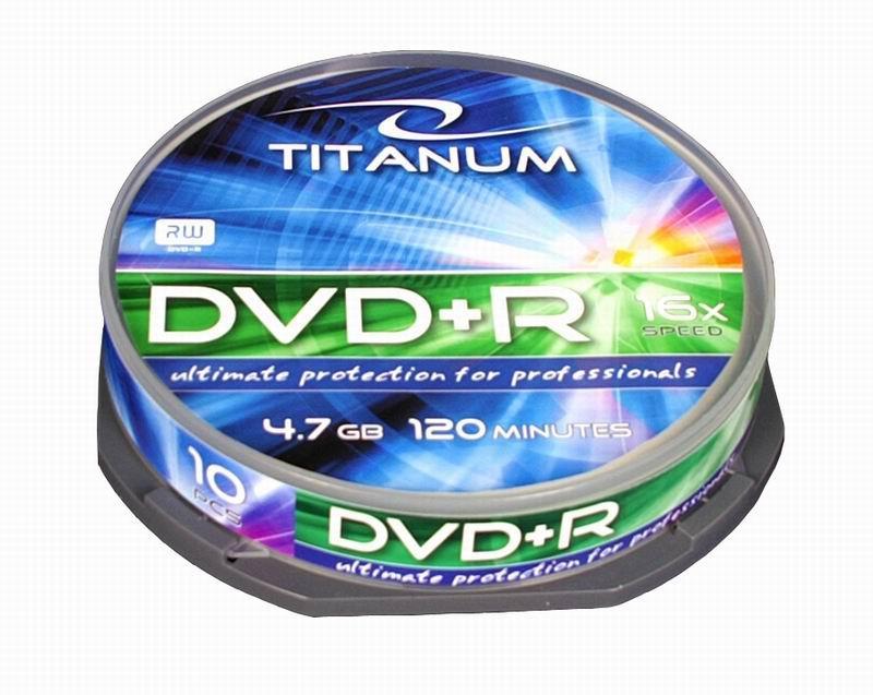 Titanum DVD+R [ cake box 10   4.7GB   16x ]