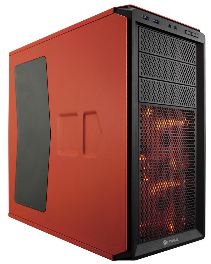 Corsair PC skříň Graphite Series™ 230T Compact Mid Tower Case Orange, LED fans