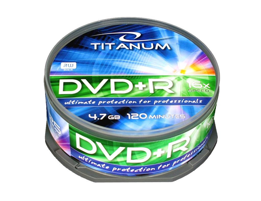 Titanum DVD+R [ cakebox 25 | 4.7GB | 16x ]