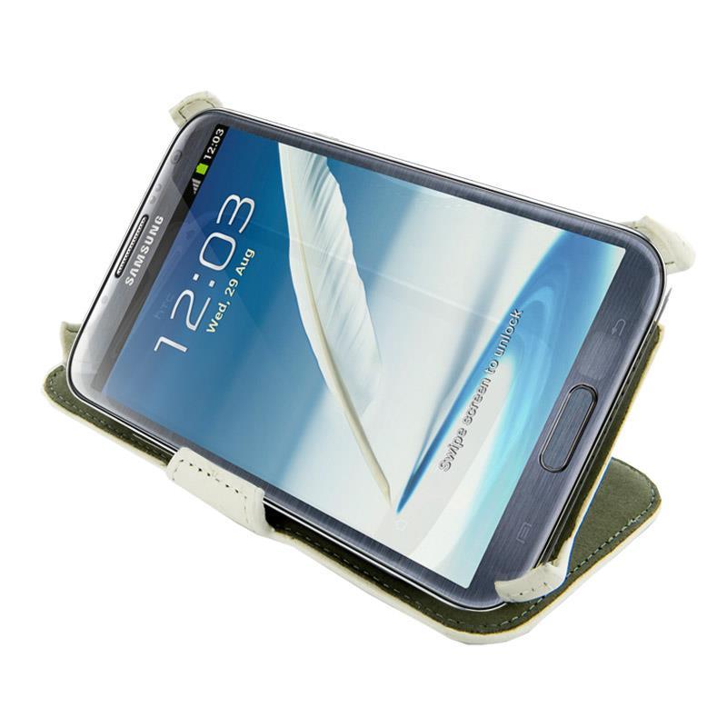 4World Ochranné pouzdro pro Galaxy Note 2, Stand, 5.5'', bílý