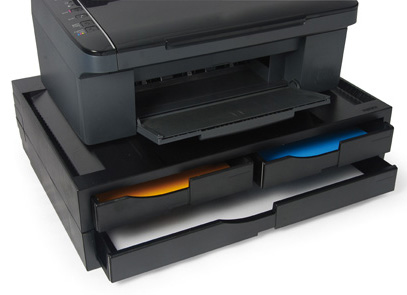 A3/A4 Organizer/Stand for printers, MFP's and monitors (black, 3 drawers)