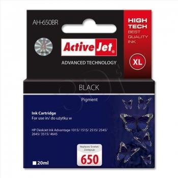 Inkoustová kazeta ActiveJet AH-650BR | černá | 20 ml | HP HP 650 CZ101AE
