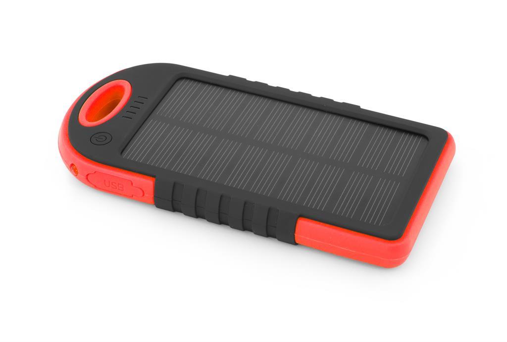 Esperanza EMP109KR SUN solární externí baterie 5200mAh, černo-červená