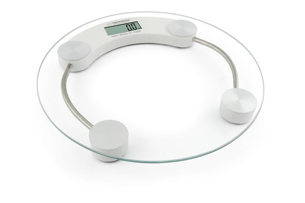 Esperanza EBS007W JUKARI osobní digitální váha, skleněná, bílá