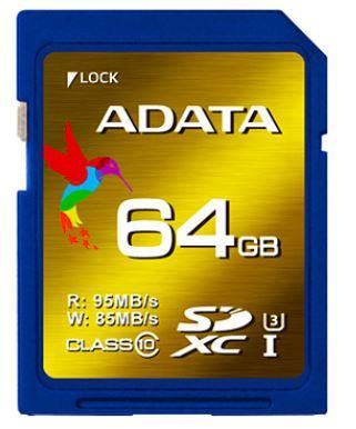ADATA XPG SDXC karta 64GB UHS-I U3 Class 10 (95/85MB/s)