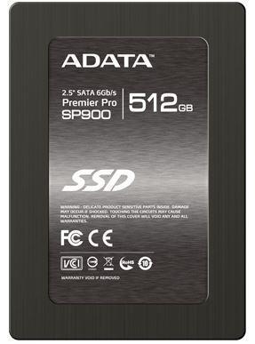 ADATA SSD Premier Pro SP900 512GB 2.5'' SATA3 (čtení: 555 MB/s; zápis: 535 MB/s)