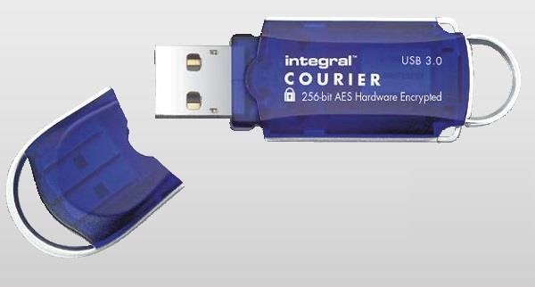 INTEGRAL Courier 8GB USB 3.0 flashdisk, AES 256 bit šifrování, FIPS 197