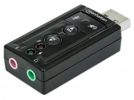 Manhattan Sound card Hi-Speed USB virtual 3D 7.1 with volume control