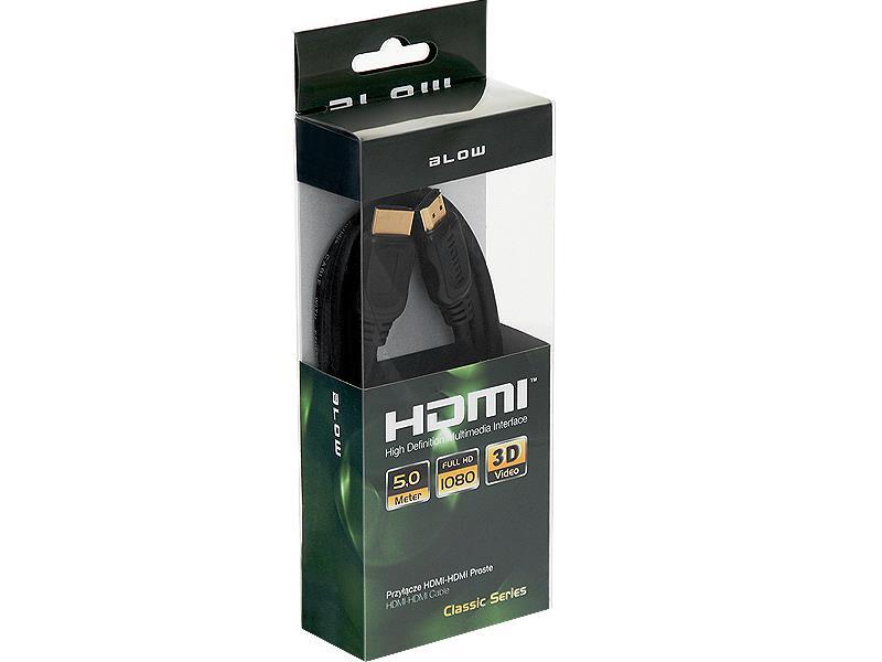 BLOW CLASSIC kabel HDMI-HDMI 5m