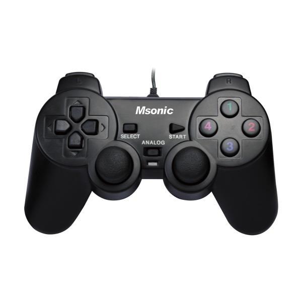 MSONIC Gamepad USB PC/PS3, vibrační režim MN3329BK