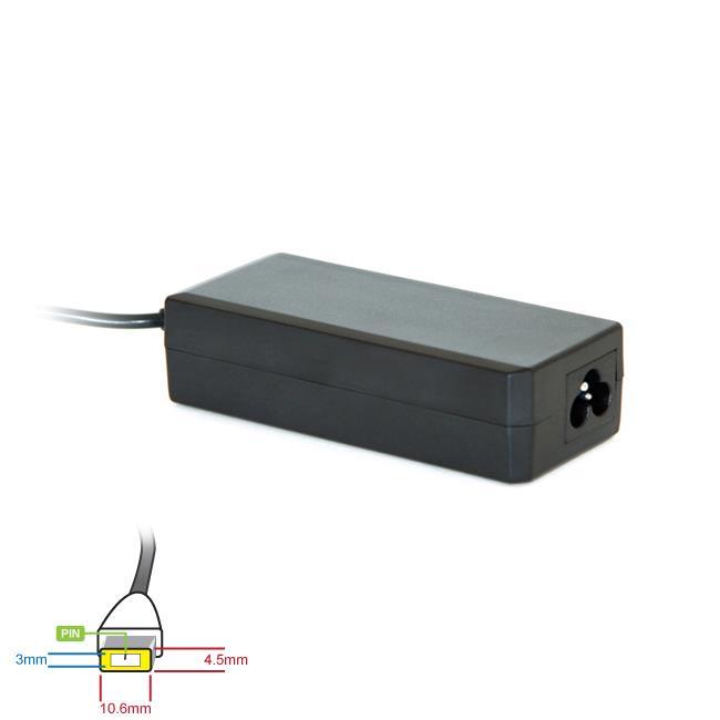 Digitalbox napájecí adaptér pro Lenovo Yoga 20V/3.25A 65W, (obdélníkový+pin)