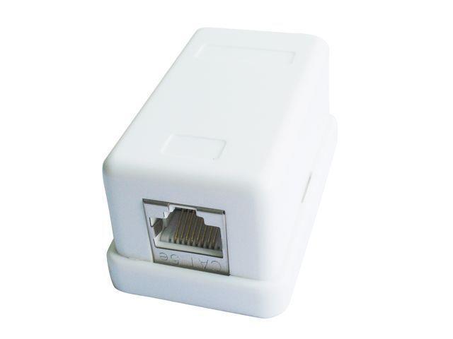Gembird zásuvka kat.5e STP 1xRJ45 na omítku, bílá, polo-stíněná
