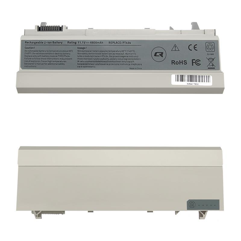 Qoltec Long Life baterie pro notebooky - Dell E6400 E6500 | 6600mAh | 11.1V