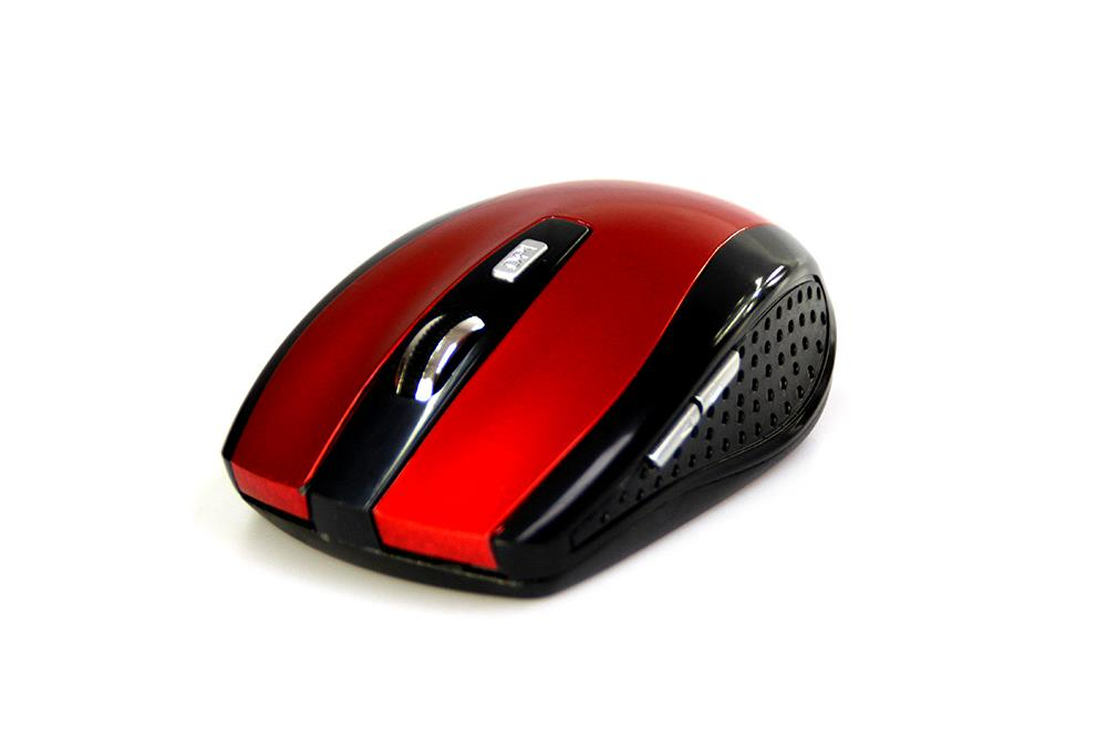RATON PRO - Wireless optical mouse, 1200 cpi, 5 buttons, color red