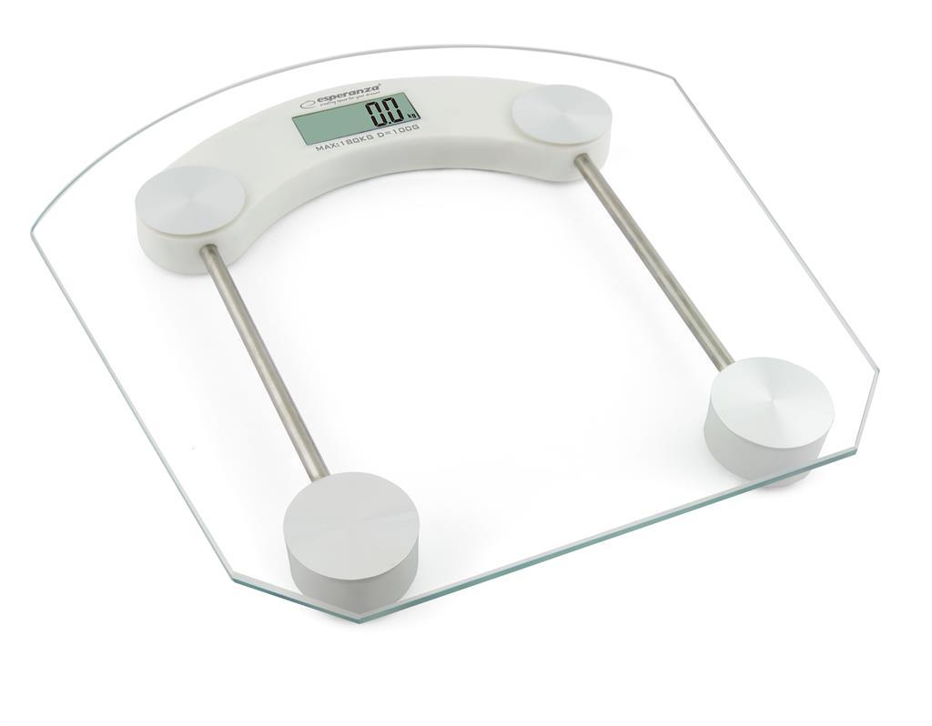Esperanza EBS008W PILATES osobní digitální váha, skleněná, bílá