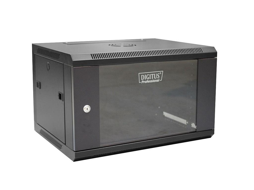 DIGITUS Nástěnný rozvaděč 19'' jednodílný 6U 600x450 RAL 9004