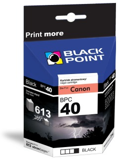 Ink Black Point BPC40 | Black | 21ml | 613 p. | Canon PG-40