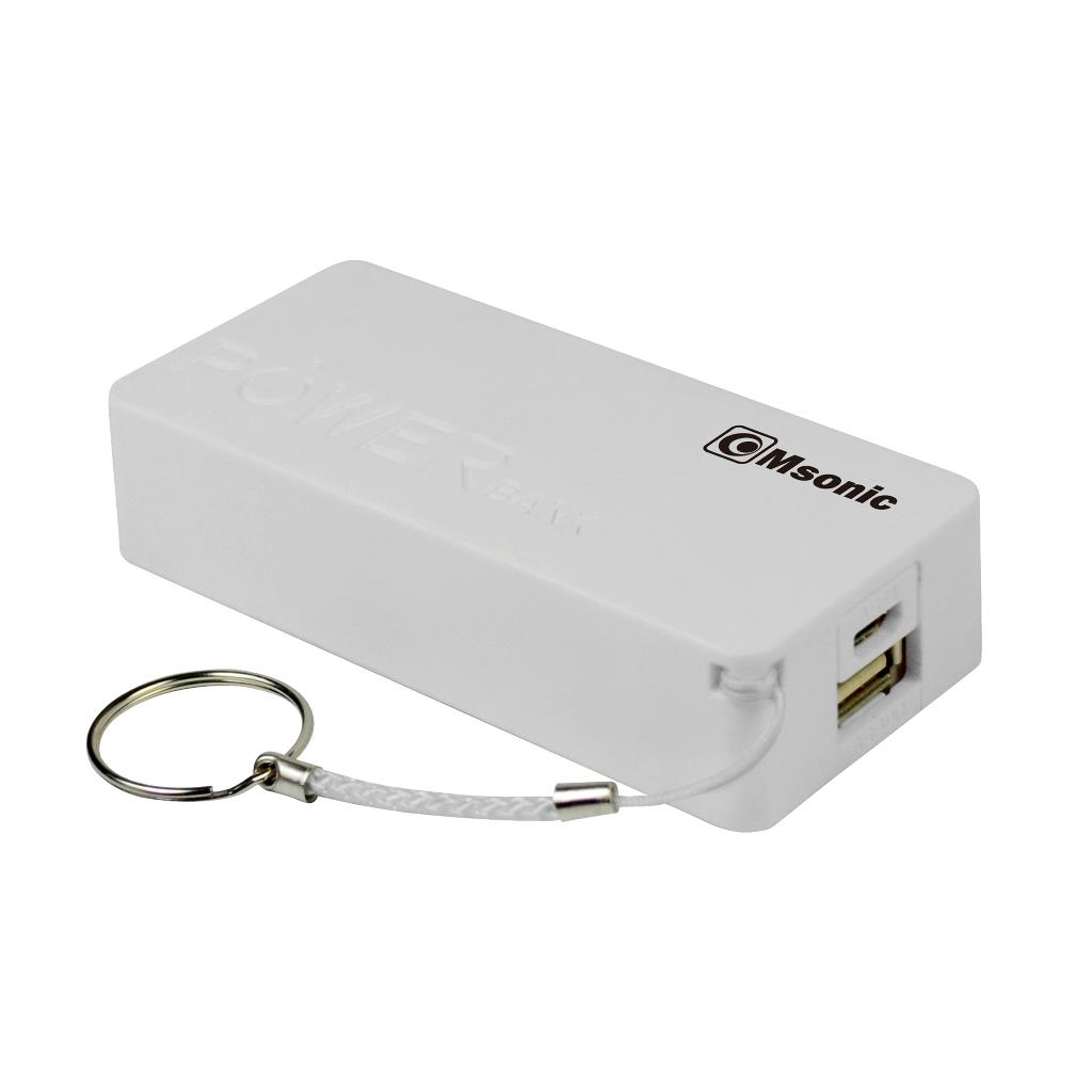 MSONIC Power Bank 5000mAh, Li-Ion MY2580W bílý