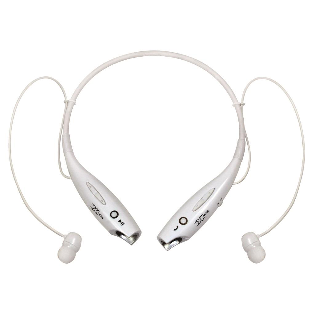 X-Zero Sports Wireless Neckband Earphones, Bluetooth 4.0, 10m X-H813BW white