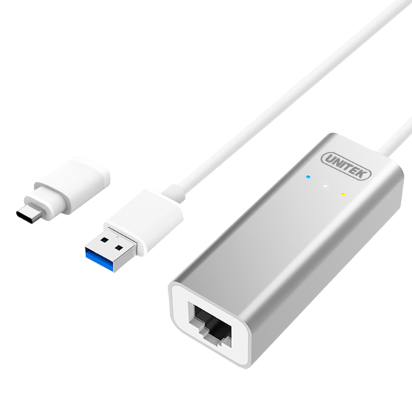 Unitek Y-3464 adaptér USB 3.0/ Typ-C - Gigabit Ethernet
