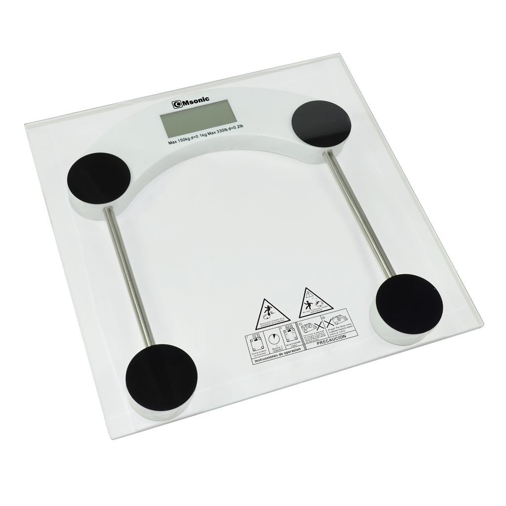 Msonic osobní váha MBE620   průhledná