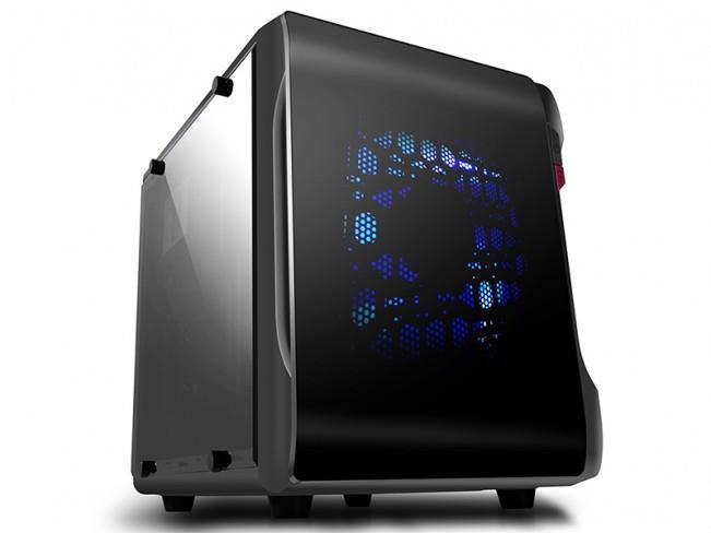 PC skříň Spire POWERCUBE 715B,mATX, ITX, bez zdroje