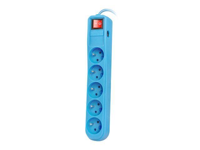 Natec Surge protector 5 sockets (IEC CONNECTOR) 1.5m, blue