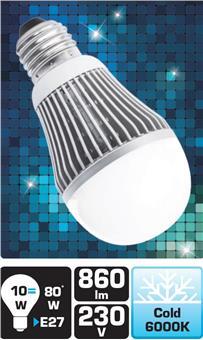 LED žárovka TB Energy E27, 230V, 10W,Studená bílá